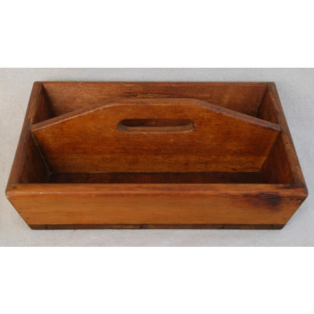Antique french wood tote tray chairish Where can i buy reclaimed wood near me