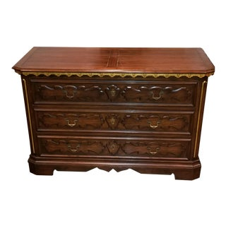 Baker Furniture Carved Wood Chest of Drawers
