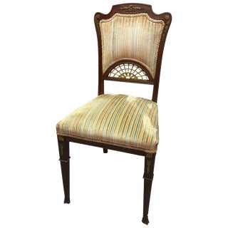Pair of French Game Chairs or Side Chairs, Late 19th Century For Sale