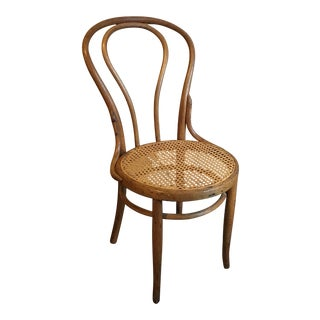 J & J Kohn Bentwood & Cane Thonet Style 18 Chair For Sale