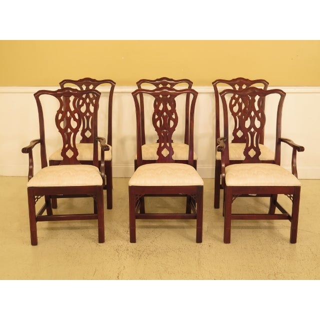 Ethan Allen Knob Creek Chippendale Cherry Dining Room