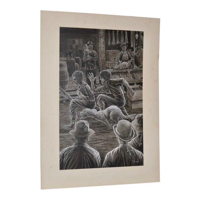 1980 Peter Thorpe Jack London Book Illustration For Sale