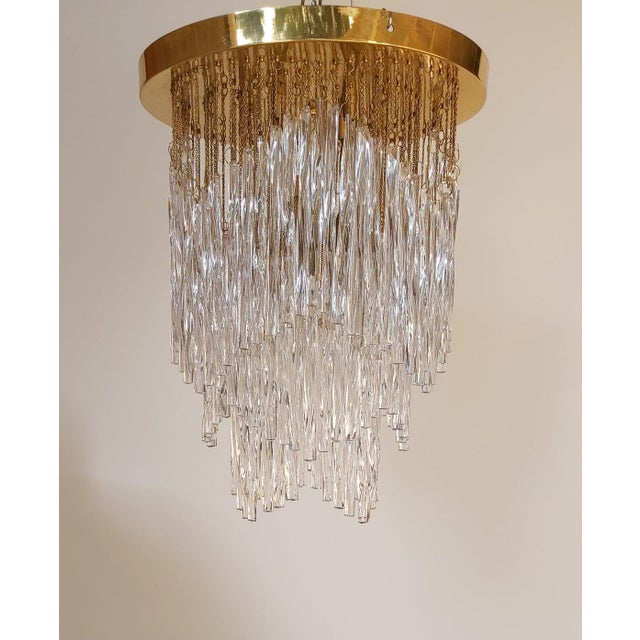 Vintage Mid-Century Murano Glass Chandelier Fixture For Sale - Image 11 of 11