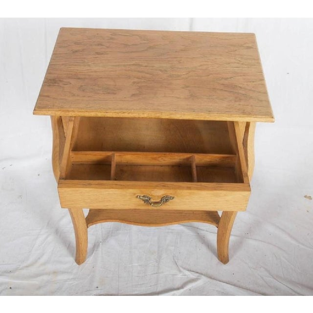 Traditional Small Oak Console Table, 1930s For Sale - Image 3 of 6