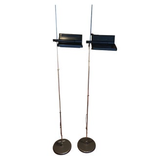 1970s Mid-Century Floor Lamps by Arteluce - a Pair For Sale