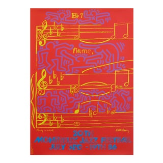 1986 Montreux Jazz Festival Poster, Keith Haring and Andy Warhol