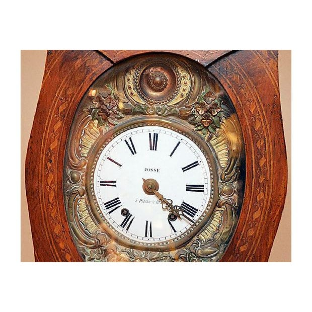 French Country Vintage French Mobier Clock For Sale - Image 3 of 9