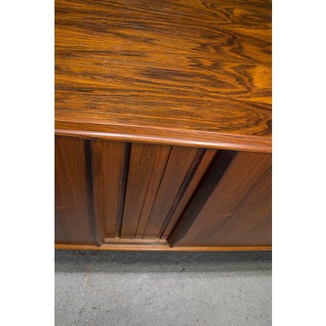 Brown Danish Modern Rosewood Sideboard For Sale - Image 8 of 10
