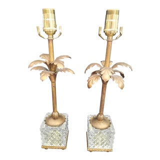 Vintage Italian Palm Tree Lamps - a Pair For Sale
