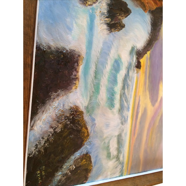 """Sunset on the Ocean"" Painting - Image 4 of 5"
