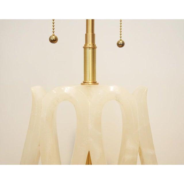 Alabaster Ribbon Lamp - Image 2 of 6