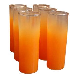 Blendo Orange Highball Glasses - Set of 6 For Sale
