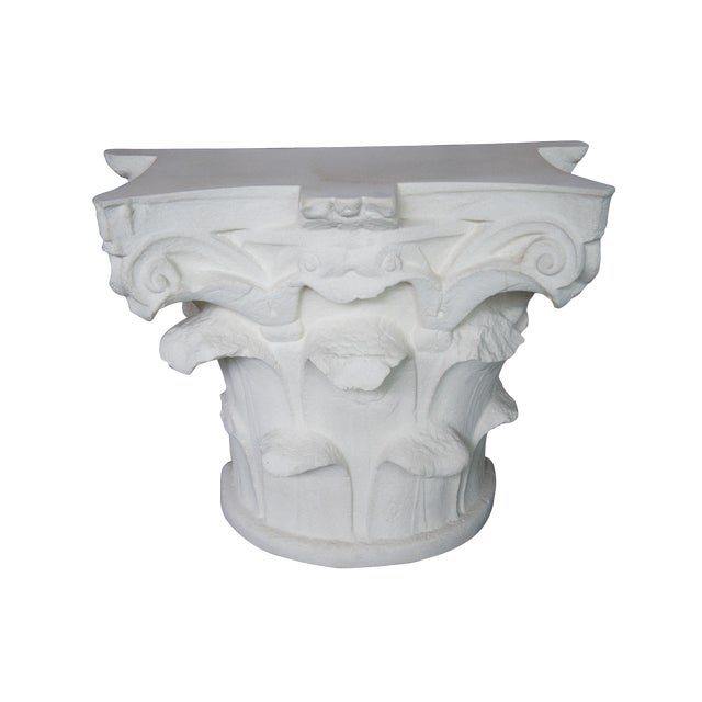Spanish Michael Taylor Designs Faux Stone Console Table For Sale