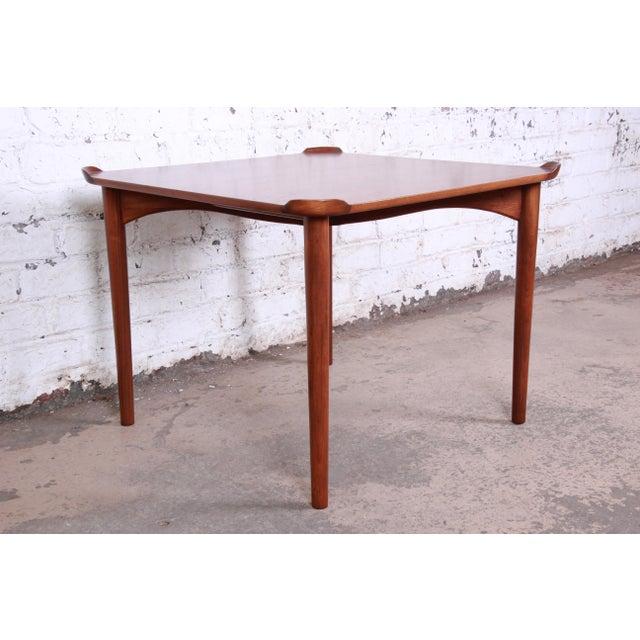 1960s Finn Juhl for Baker Furniture Teak Game Table For Sale - Image 5 of 9