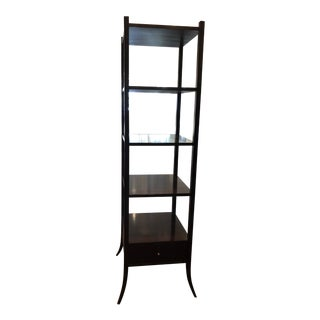 Baker Black Etagere Shelf For Sale