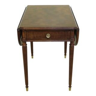 Henredon Drop Leaf Sheraton Style Pembroke End Table For Sale