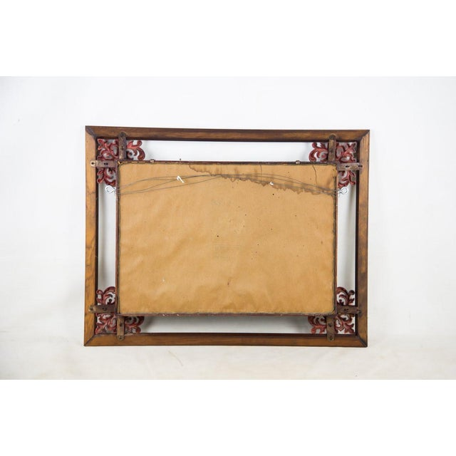 Brown 1960s Victorian Mahogany Decorative Wall Mirror With Shelves For Sale - Image 8 of 9