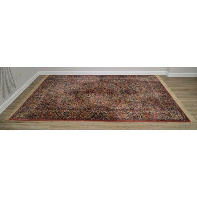 Traditional Karastan 8.8x12 Multicolor Panel Kirman Room Size Rug # 717 For Sale - Image 3 of 13