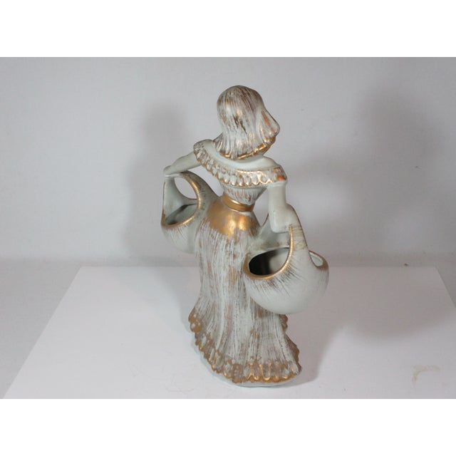 Haeger Haeger Figurine of Girl With Baskets For Sale - Image 4 of 8