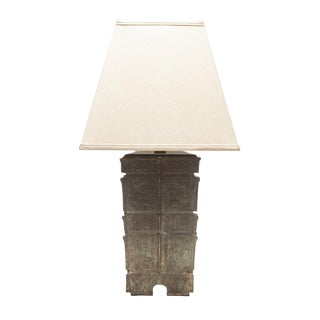 Lawrence & Scott Nelson Table Lamp in Archaic Bronze For Sale