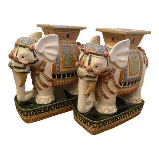 Vintage Porcelain Elephant Stools - a Pair For Sale