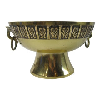 Brass Ring Handled Urn For Sale