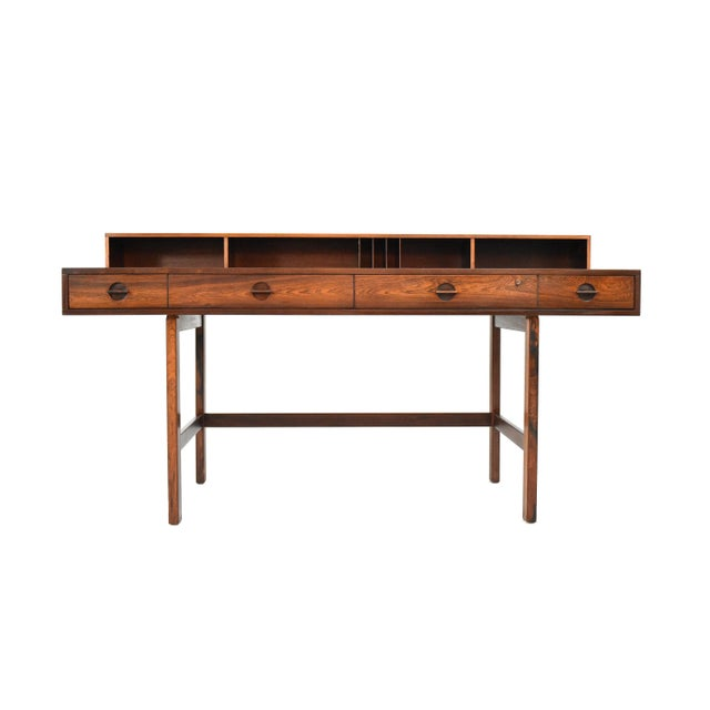 Danish Modern Rosewood Desk by Peter Løvig Nielsen for Dansk - Image 2 of 11
