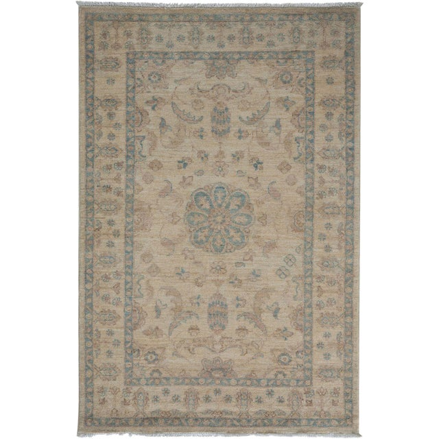 "Oushak Hand Knotted Area Rug - 3' 4"" X 5' 0"" For Sale - Image 4 of 4"