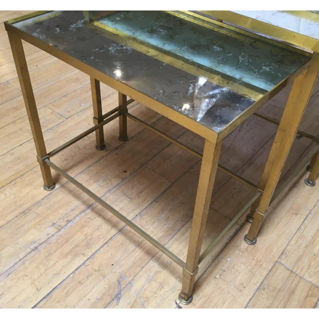 1920s Marc Du Plantier Refined Gold Bronze 3 Nesting Tables For Sale - Image 5 of 8