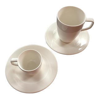 Villeroy & Boch Affinity White Premium Porcelain Saucers and Cups - Set of 4