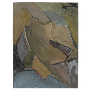 Jack Freeman Abstract Expressionist Painting in Cool Tones, Circa 1960s For Sale