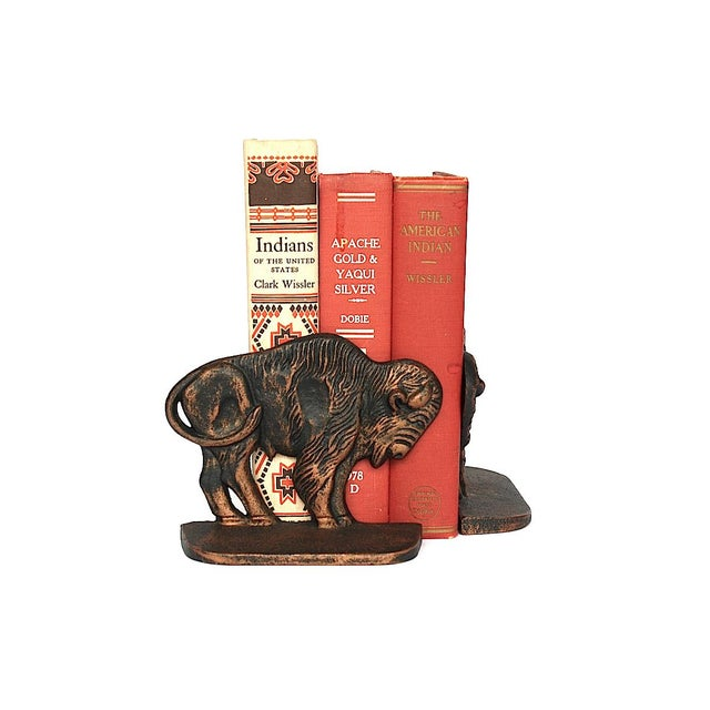 Vintage Bison Buffalo Bookends - a Pair For Sale - Image 9 of 11