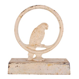 Bradley & Hubbard Cast Iron Parrot Door Stop For Sale