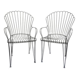 1950s Vintage Wire Chairs- A Pair For Sale