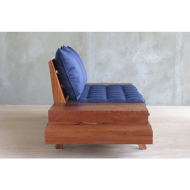 Floating Blue Loveseat by Masaya & Company - Image 4 of 8
