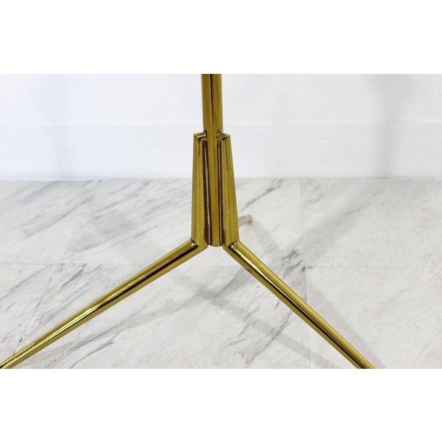 Mid 20th Century 1950s Mid-Century Modern Cesare Lacca Italian 2-Tier Brass Glass Side End Table For Sale - Image 5 of 6