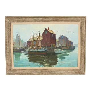 "1960s Vintage G. Hjalmar ""Cappy"" Amundsen Painting For Sale"