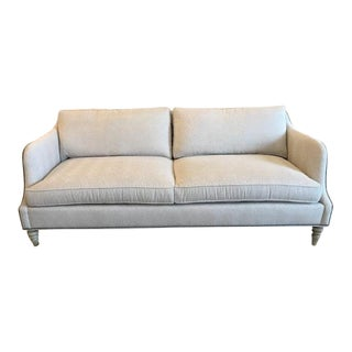 Vanguard Sofa in Geometric Gray Fabric For Sale