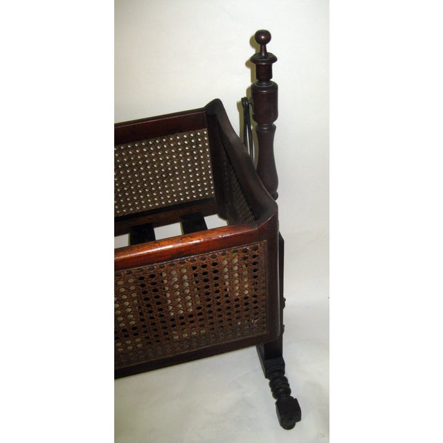 19th Century Gothic Revival Walnut Swinging Cradle For Sale - Image 4 of 13