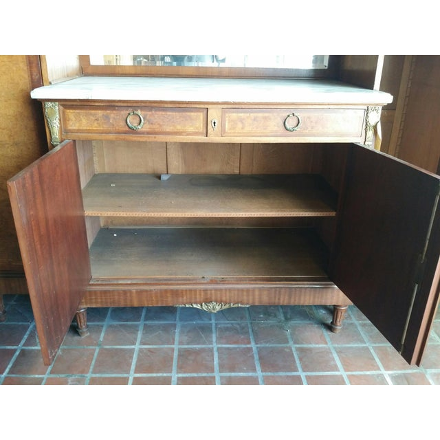 Tan Louis XVI Side by Side Buffet For Sale - Image 8 of 9