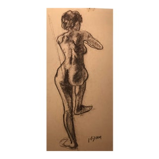 1950s Female Nude Drawing by Hilliard Dean For Sale