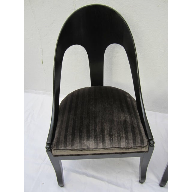 Modern Pair of Spoon Back Modern Chairs For Sale - Image 3 of 8