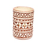 Image of Moroccan Hand Painted White Ceramic Tealight Holder For Sale