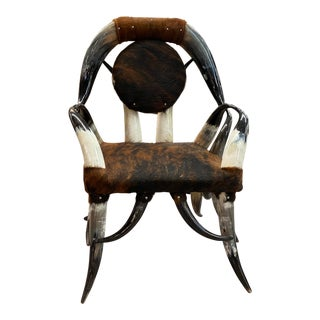 Western Horn Chair For Sale