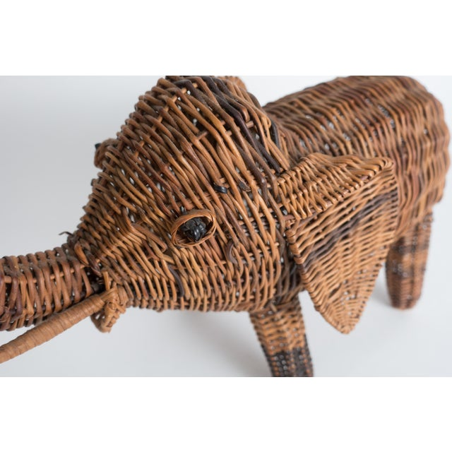 Vintage Wicker Elephant Statue For Sale - Image 12 of 13
