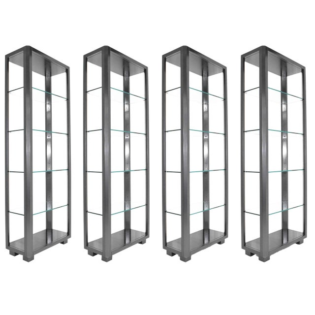 Shelf Unit With Glass Shelves For Sale