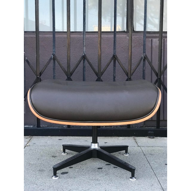 Mid Century Style Lounge Chair and Ottoman For Sale - Image 11 of 13