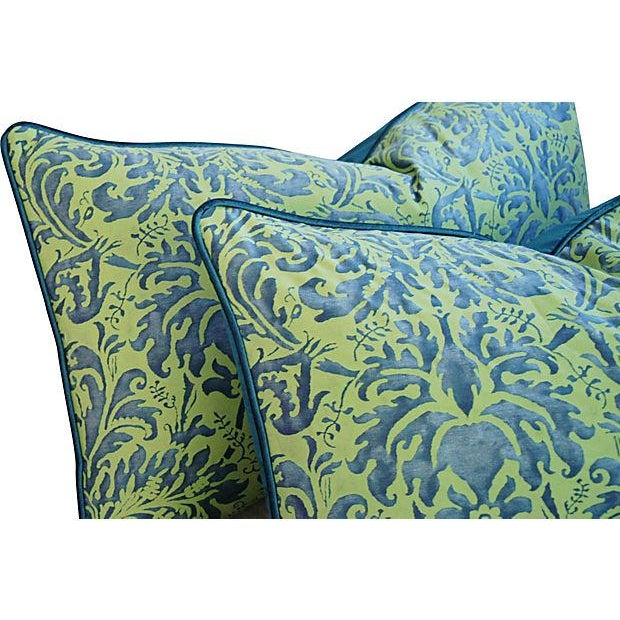 Fortuny Sevres Silk & Velvet Pillows - A Pair - Image 3 of 7