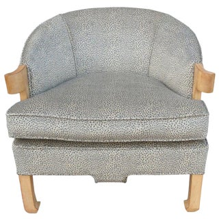 1940s Vintage Baker Chic & Beautiful Animal Print Armchair For Sale