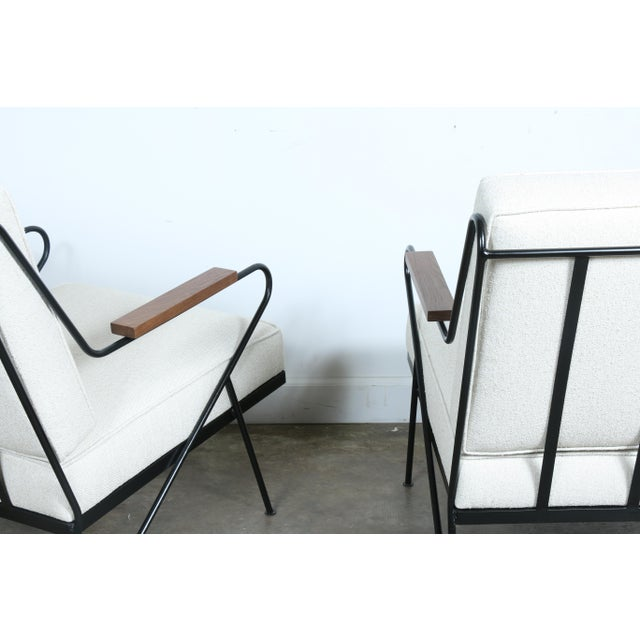 Wrought Iron Modern Chairs - A Pair - Image 9 of 9